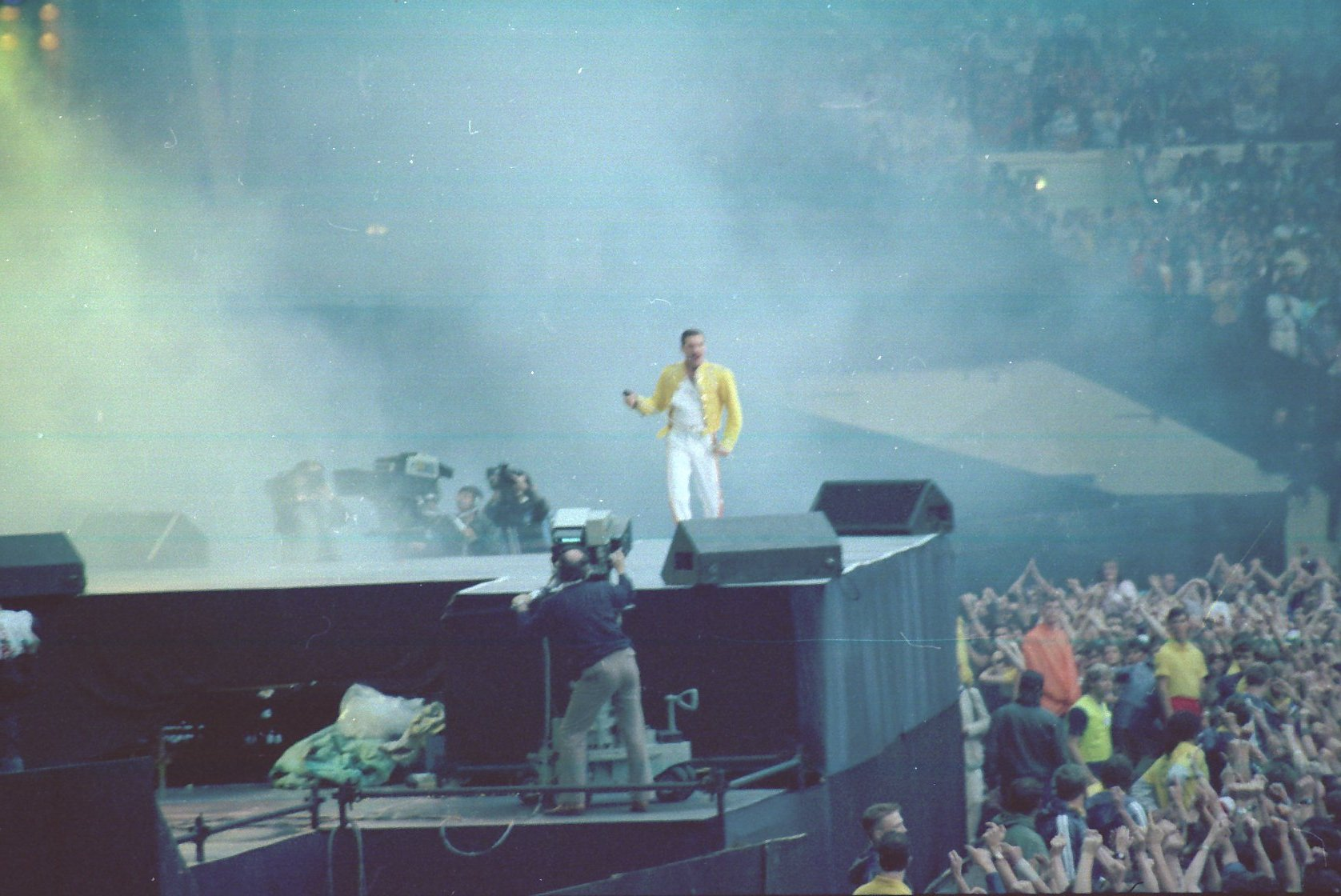The second night at Wembley Stadium is probably the most famous and well-documented concert of Queen's career. It was filmed by 15 cameras with the initial ...